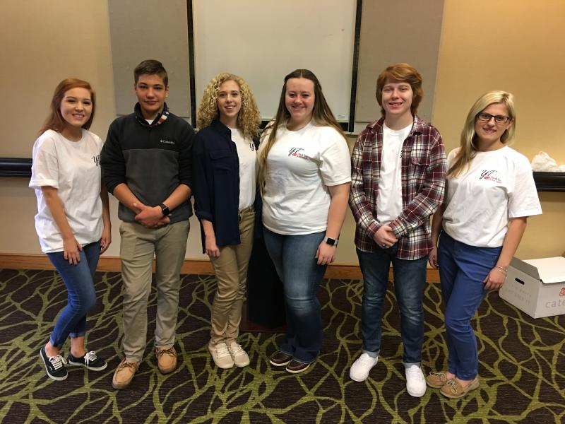 2018 Youth Tour winners in Washington D.C.